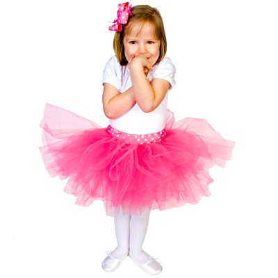 FTT Candy Pink Dot Tutu Bow