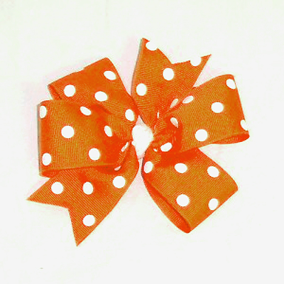 PolkaDotBow-Orange