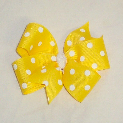 PolkaDotBow-Yellow600