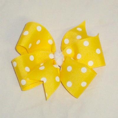PolkaDotBow-Yellow600