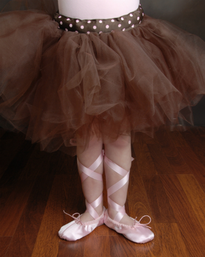Pink Ballet Shoes and Brown Tutu