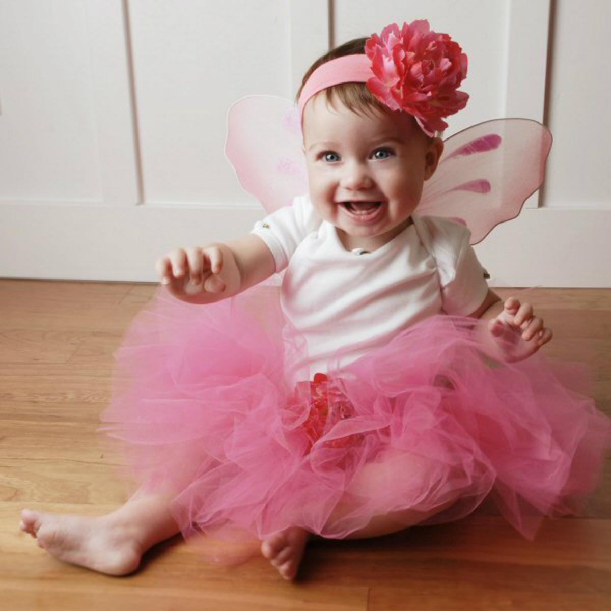 Pink Peony Flower Fairy Costume Tutu Set - Fairytale Tutus