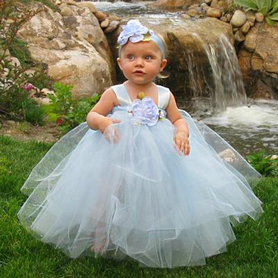 Alice in Wonderland Tutu Dress with White Lace Apron - Fairytale Tutus
