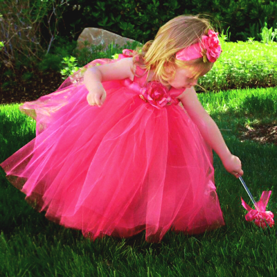hot pink flower girl's tutu dress for a fairytale wedding, Beautiful flower