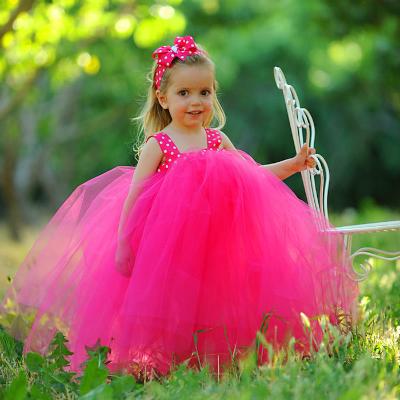 Hot Pink Polka Dot Ribbon Sash Birthday Girls Tutu Dress ... - photo #29