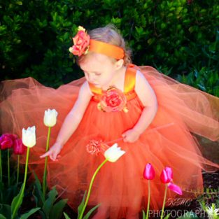 Orange-tulle-flower-girl-gown