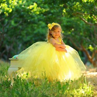 Yellow-polka-dot-ribbon-tutu-gown