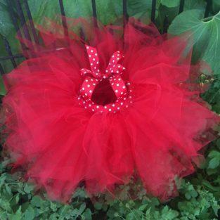 Red and white polka dot dress tutu