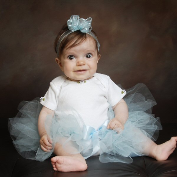 Baby Blue First Birthday Tutu Set Newborn Outfit Girls Tulle Skirt Smash Cake Infant Photo Props Alice In Wonderland Shower Gift