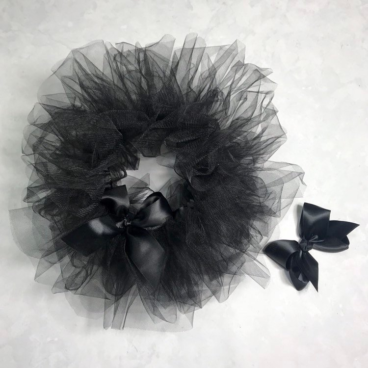 Black Halloween Tutu First Birthday Outfit Baby Girl Gift Ideas Custom Handmade Tulle Skirt Onesie Dress Up Clothing Black Cat Witch Costume