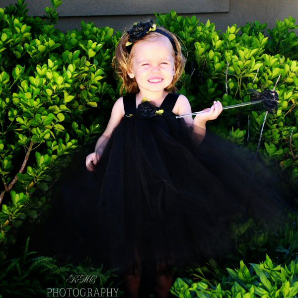Black Witch Tutu Halloween Costume Tulle Skirt Toddler Gift Idea First Birthday Party Photo Shoot Prop Flower Girl Dress Formal Wedding Wear