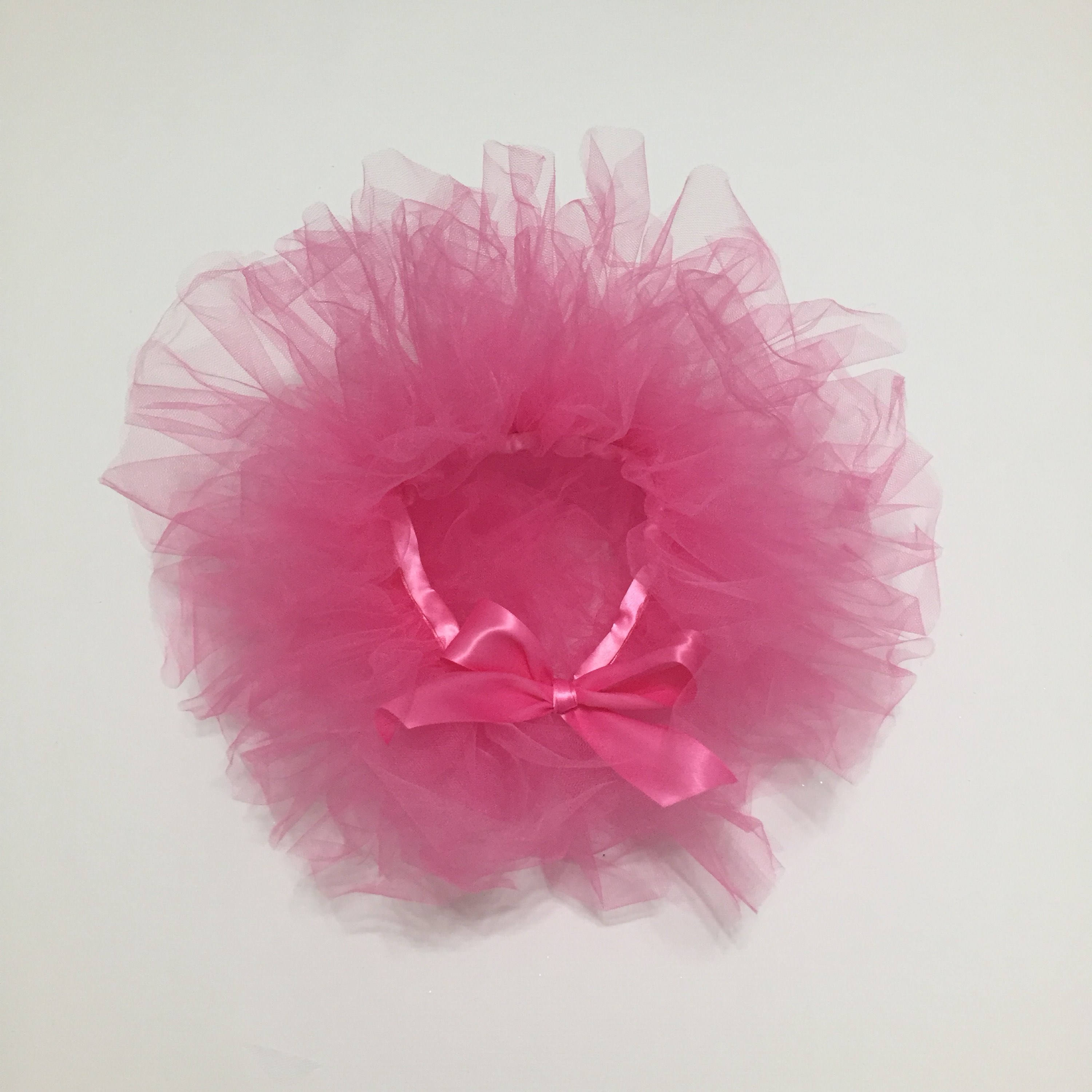Candy Pink Tutu First Birthday Cake Smash Photo Prop Outfit Baby Toddler Child Fairy Princess Ballet Halloween Costume Handmade Tulle Skirt