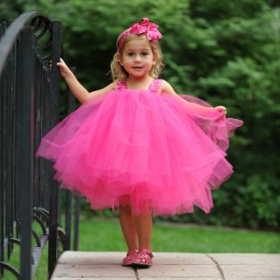 40e58e2c70575 Hot Pink Camo Flowergirl Gown Tulle Flower Girl Tutu Set First Birthday  Dress 1st Photo Prop Baby Toddler Polka Dot Bow Headband Kids Outfit