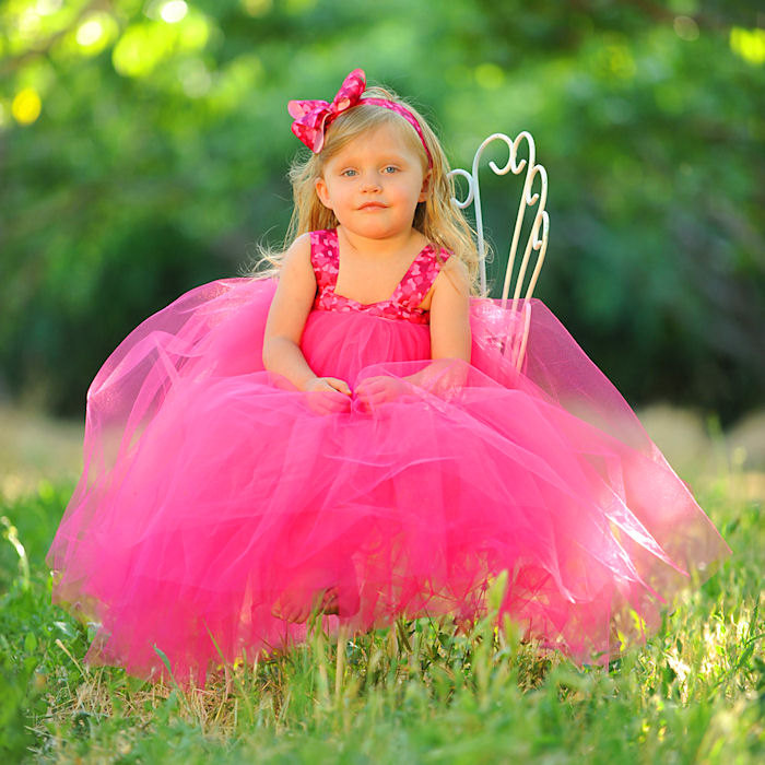 Hot Pink Camouflage Tulle Easter Dress Birthday Toddler Child Formal Event Military Wedding Custom Made Special Occasion Flower Girl Gown