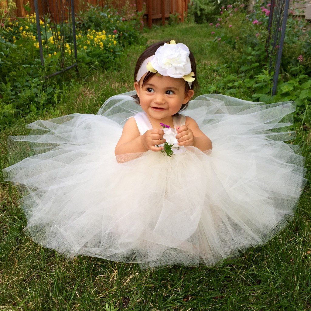 Ivory Tulle Flower Girl Dresses Baby Infant Toddler Custom Handmade Clothing Special Occasion Baptism Confirmation Blessing Christening Gown