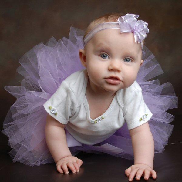 Light Purple Tutu Baby's First Birthday Cake Smash Outfit Newborn Infant Tulle Skirt Flower Girl Dress Photo Prop Halloween Fairy Costume