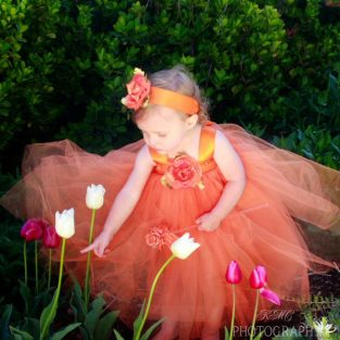 orange tulle skirt
