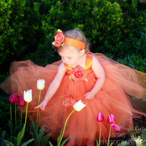 Orange Flower Girl Dress Tulle Halloween Tutu Gown Fairytale Princess Costume Fall Wedding Autumn Flowergirl Ideas Pumpkin Cinderella Outfit