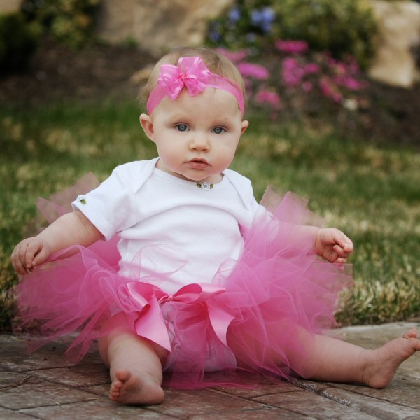 Pink Baby Tutu Set Girls Smash Cake Outfit First Birthday Tulle Skirt Candy Pink Hair Bow 1st Bday Dress Bow Headband Photo Shoot Props Gift
