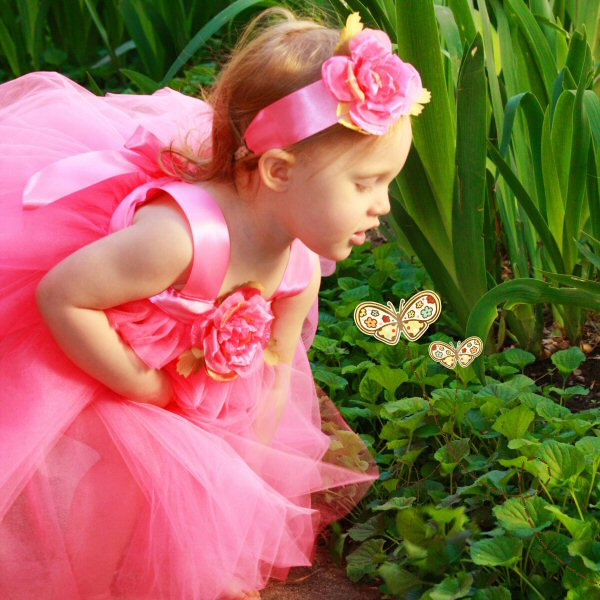 Pink Tulle Flower Girl Dress Baby First Birthday Outfit Fairy Tutu Gown Photo Prop Toddler Gift Idea Flowergirl Wedding Special Occasion Set