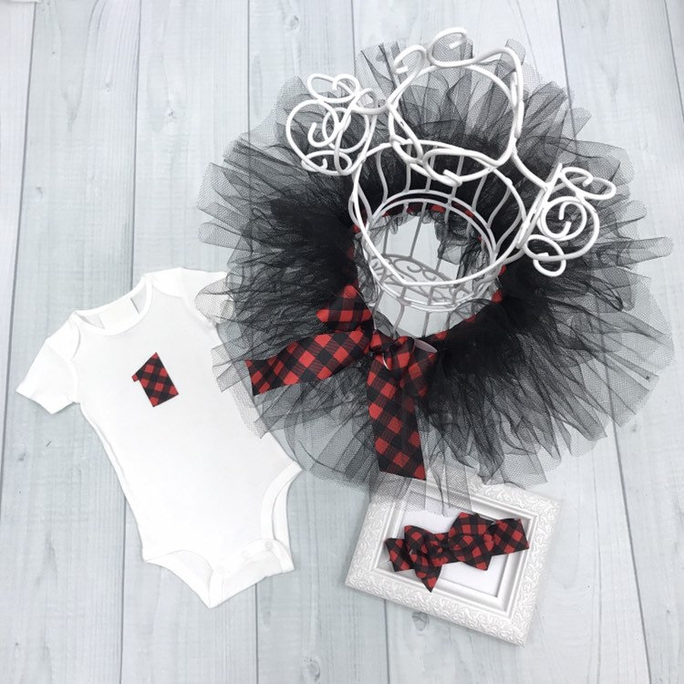 Red Amp Black Baby Outfit Toddler Buffalo Check Tutu Plaid
