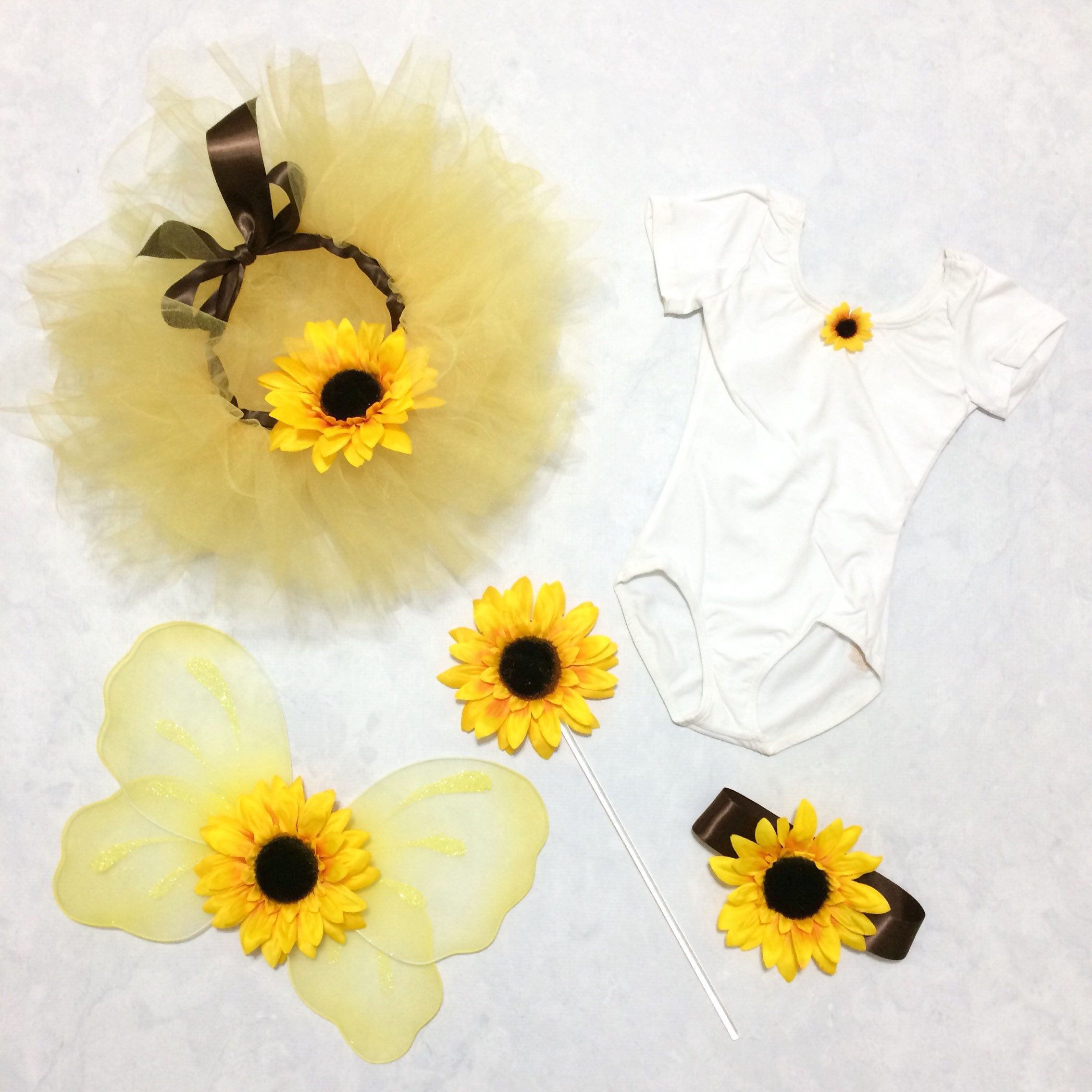 5ec71d04c7b27 Sunflower Tutu Fairy Costume Autumn Wedding Flower Girl Dress Fall Photo  Prop Woodland Nature Child Toddler Halloween Party Dress-up Outfit