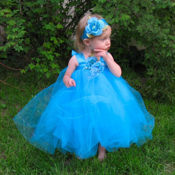 Turquoise Blue Tulle Dress Baby Girl Flowergirl Gown 1st First Birthday Tutu Set Photo Prop Clothes Flower Fairy Costume Tulle Skirt Outfit