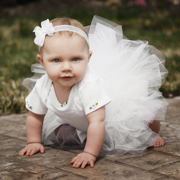 White 1st Birthday Outfit Baby Girl Bodysuit Headband Tutu Set  Gift 1st Bday Cake Smash First Birthday Dress