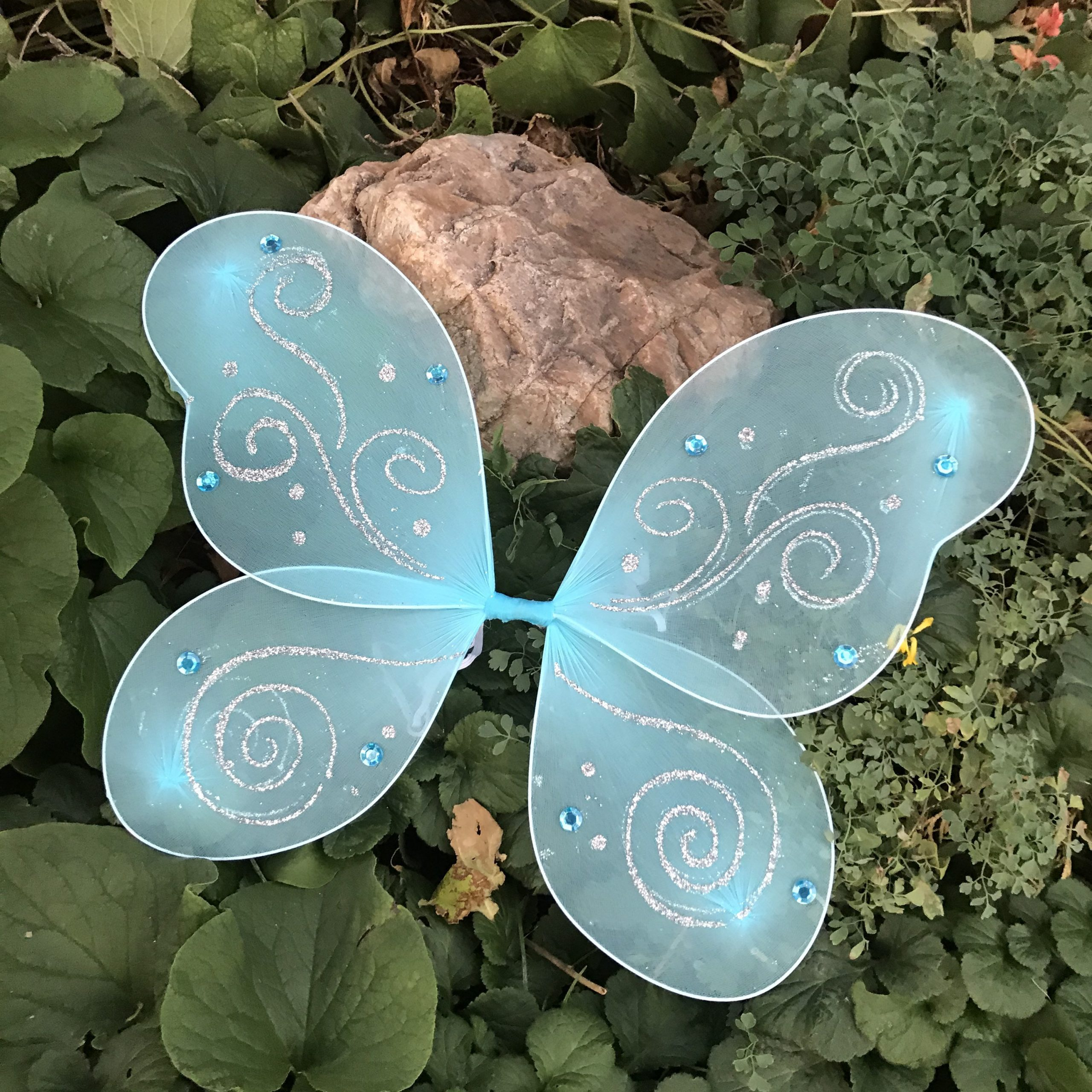 Blue Butterfly Wings Halloween Fairy Costume Pixie Tinkerbell Outfit Baby Girl Toddler Kids Child Teen Adult Cosplay Fairytale Dress Up Set