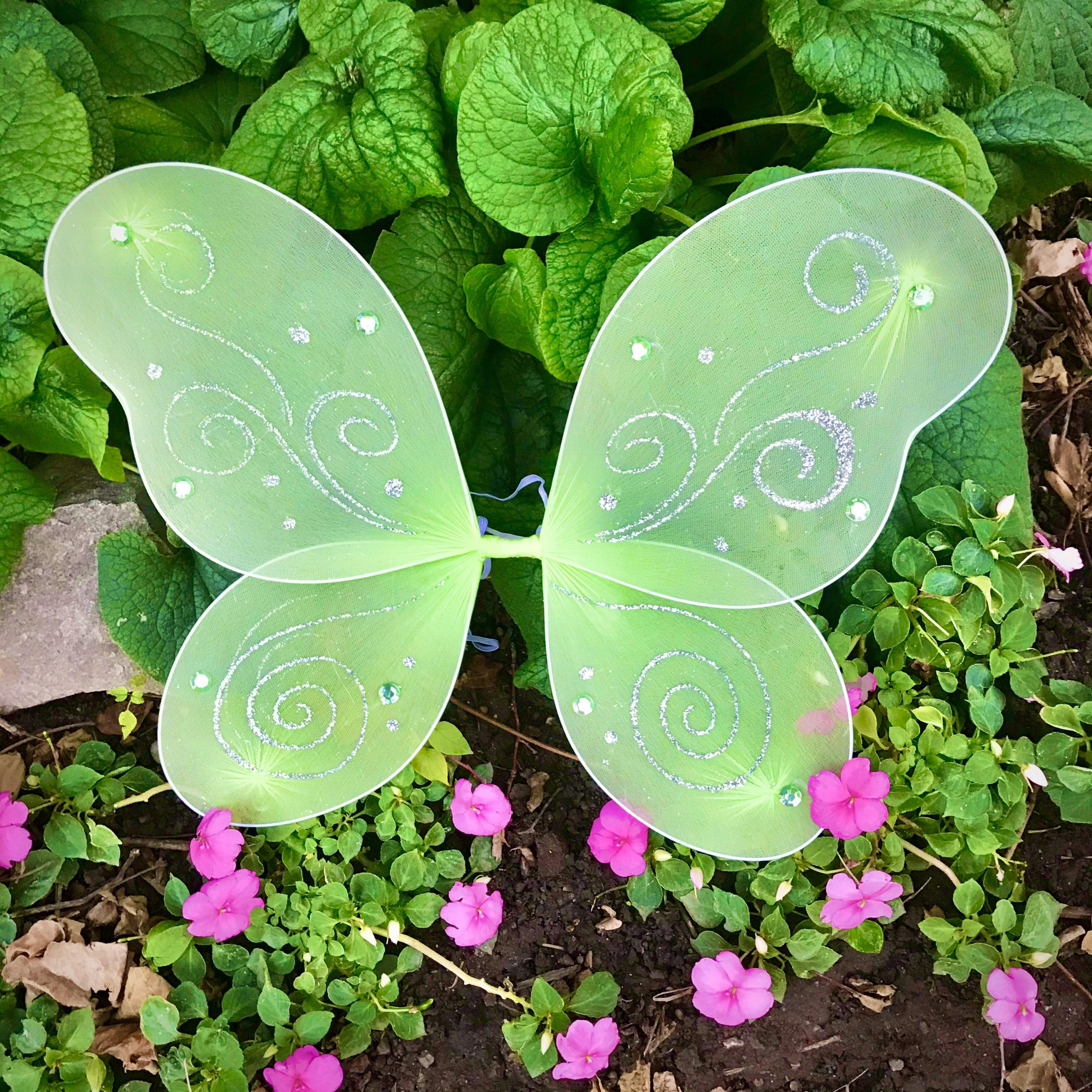 Green Fairy Wings Tinkerbell Halloween Costume Baby Girl Toddler Kids Child Woodland Forest Butterfly Gift Teen Adult Pixie Cosplay Set