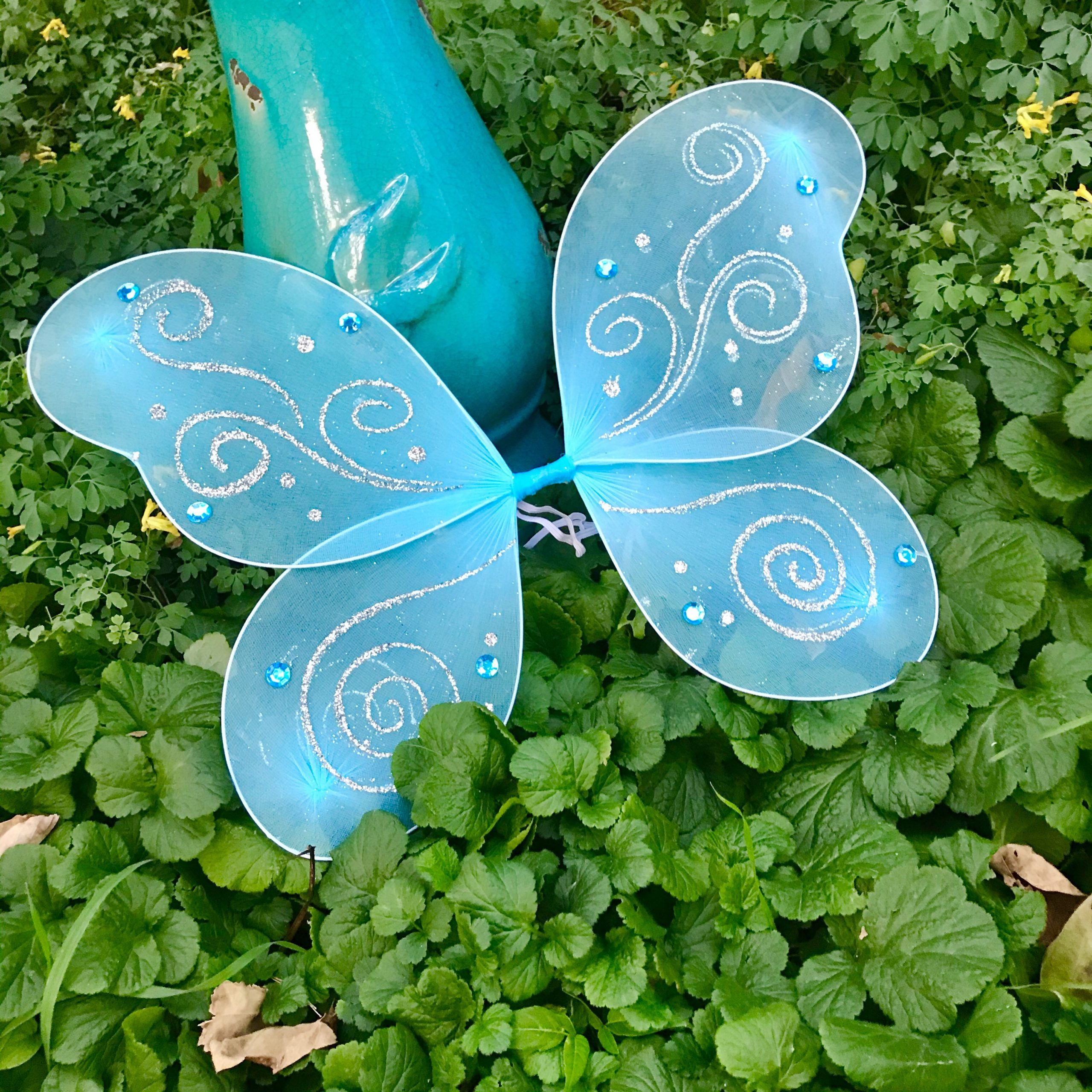 Blue Fairy Wings Halloween Costume Tinkerbell Pixie Baby Girl Toddler Child Kids Teen Adult Cosplay Ideas Birthday Gift Photo Shoot Prop Set