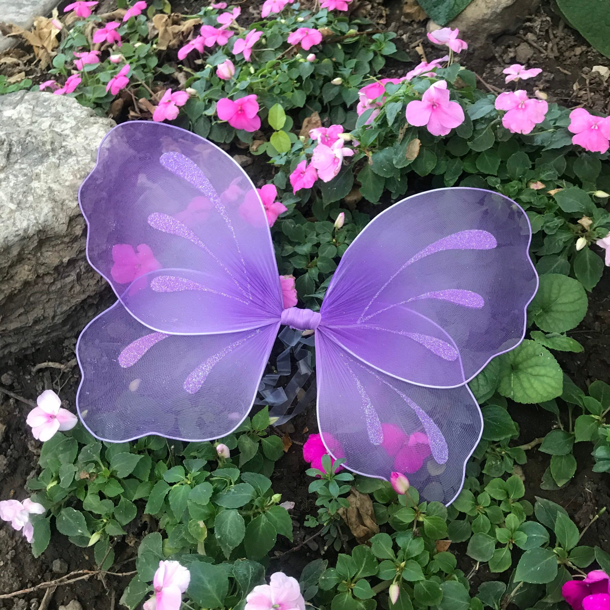 Purple Fairy Wings Costume Pixie Butterfly Outfit Baby Girl Kids Teen Adult Cosplay Rustic Woodland Wedding Forest Lavender Photo Shoot Prop