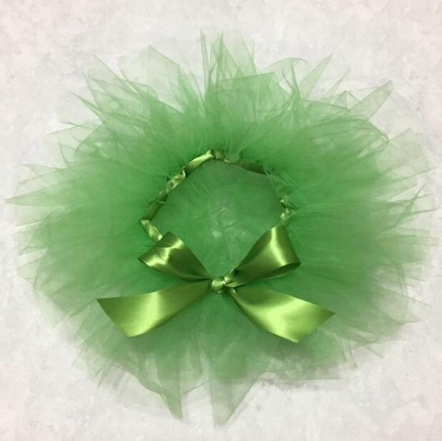 Tinkerbell Tutu Green Pixie Wings Fairy Princess Newborn Baby Girl Toddler Halloween Costume First Birthday Outfit Cake Smash Photo Prop Set